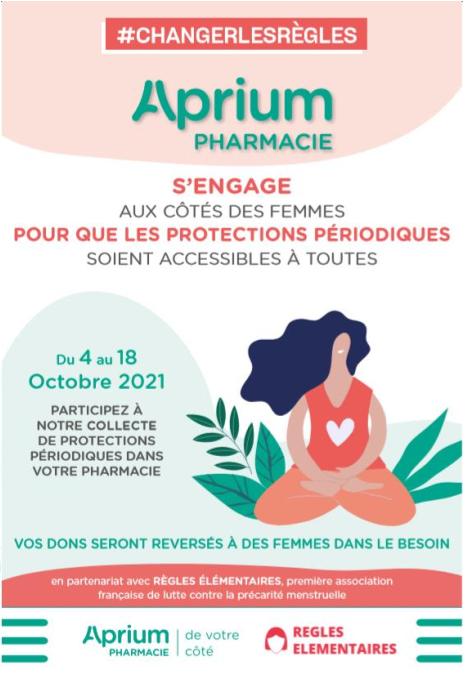 Précarité menstruelle la Pharmacie des Pyrénées Muret s'engage !!!