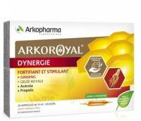 Arkoroyal Dynergie Ginseng Gelée Royale Propolis Solution Buvable 20 Ampoules/10ml à Muret