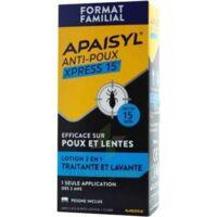 Apaisyl Anti-poux Xpress 15' Lotion Antipoux Et Lente 200ml+peigne à Muret