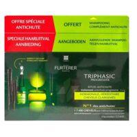 René Furterer Triphasic Progressive Sérum Antichute Coffret 8 Flacons X 5,5ml + Shampoing Stimulant 100 Ml à Muret